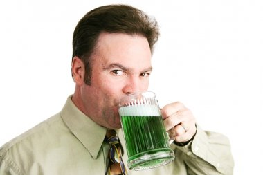 Drinking Green Beer on St Patricks Day