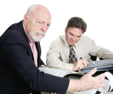 Wealthy Senior Man Upset by Tax Bill