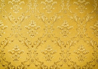 Luxury seamless golden floral wallpape