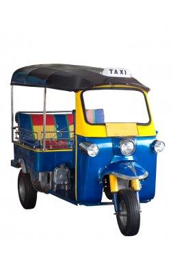 Isolated, Thailand tricycle -- Tuk Tuk