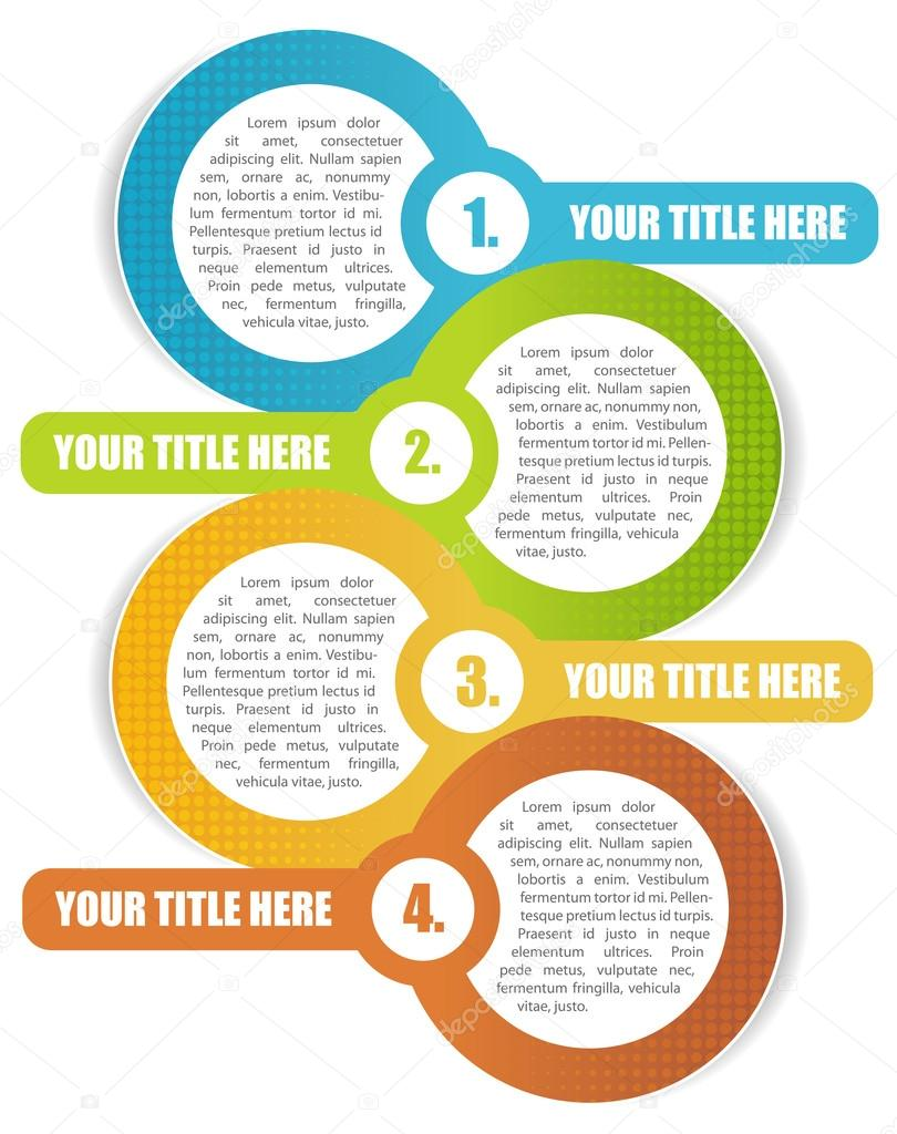 Vector four step background for brochure or website