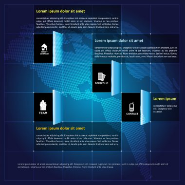 Modern vector infographic corporate background with icons