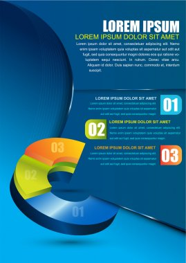 Vector business background with 3D color chart