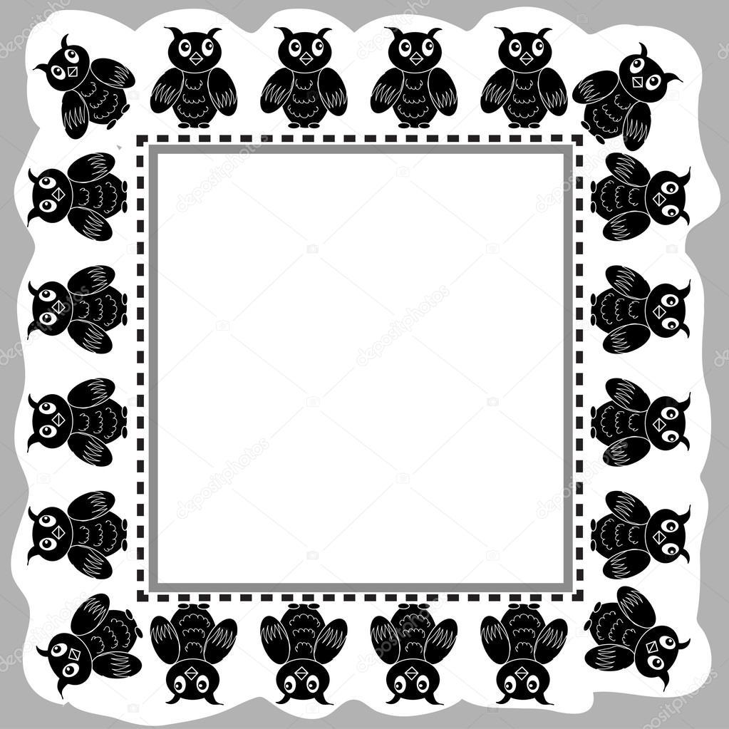 Owl Frame — Stock Vector © Nuarevik #14129281