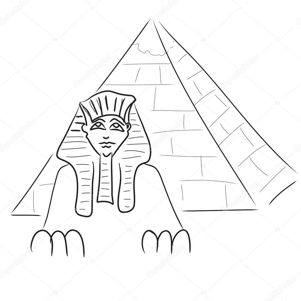 сфинкс картинки египет карандашом данным местных
