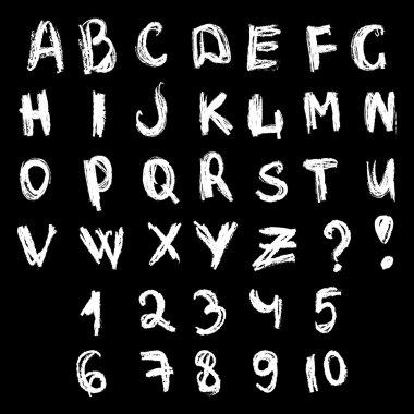 Chalk doodles type