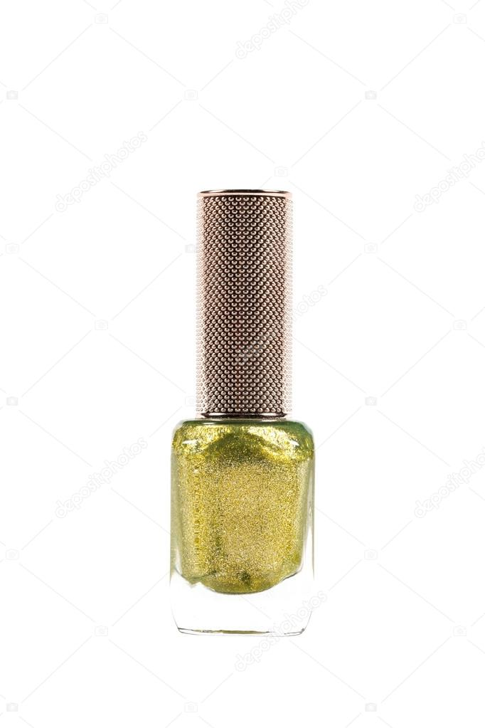 diamante polvo de uñas verde color metálico aislado sobre fondo ...