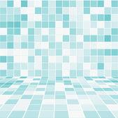 Belső szoba, mozaik csempézett fal vektor