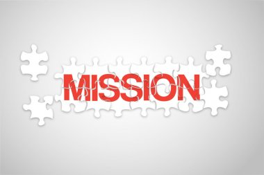 Mission jigsaw stock vector