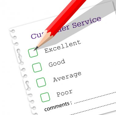 Questionnaire of customer service feedback
