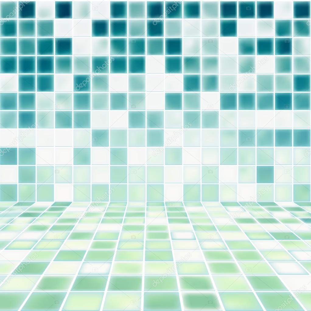 Espacio Interior Con El Vector Paredes De Azulejos De Mosaico  ~ Mosaicos De Azulejos En Paredes