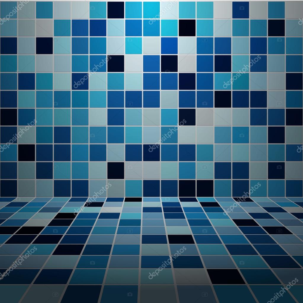 Espacio Interior Con Paredes De Azulejos De Mosaico De Luz Baja  ~ Mosaicos De Azulejos En Paredes