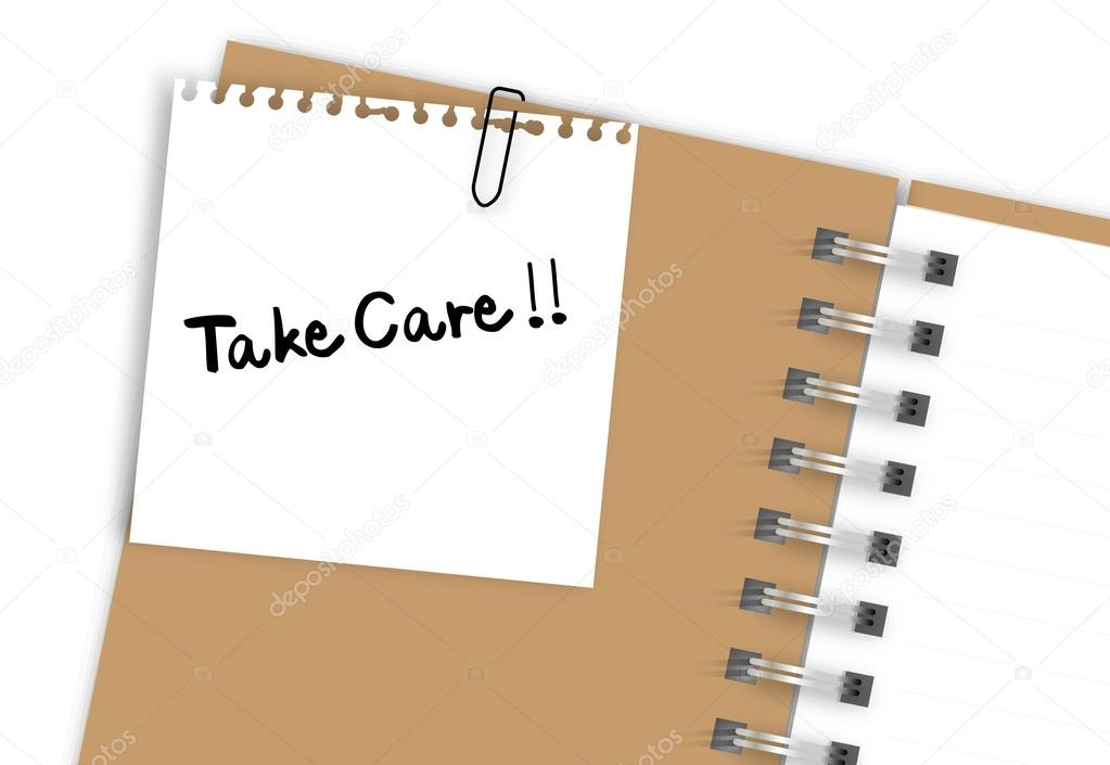 Take care note paper