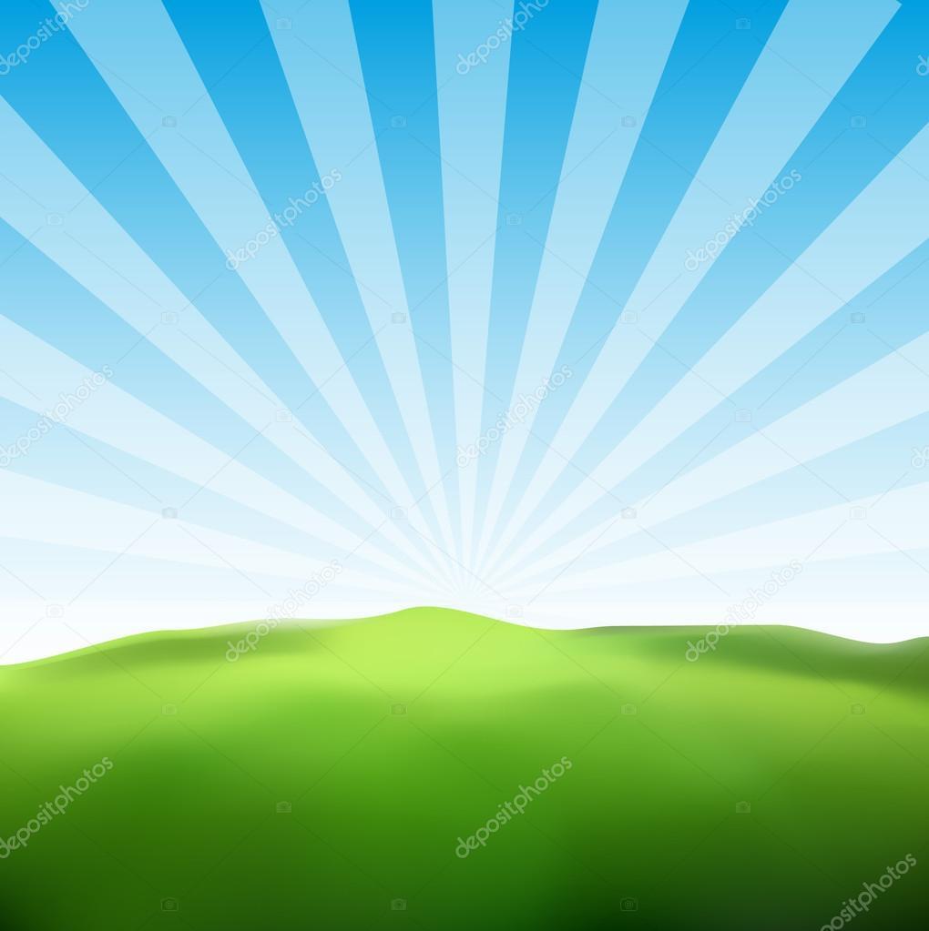 Landscape Sunny Ray Background
