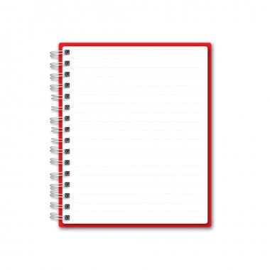Red Blank Note Book