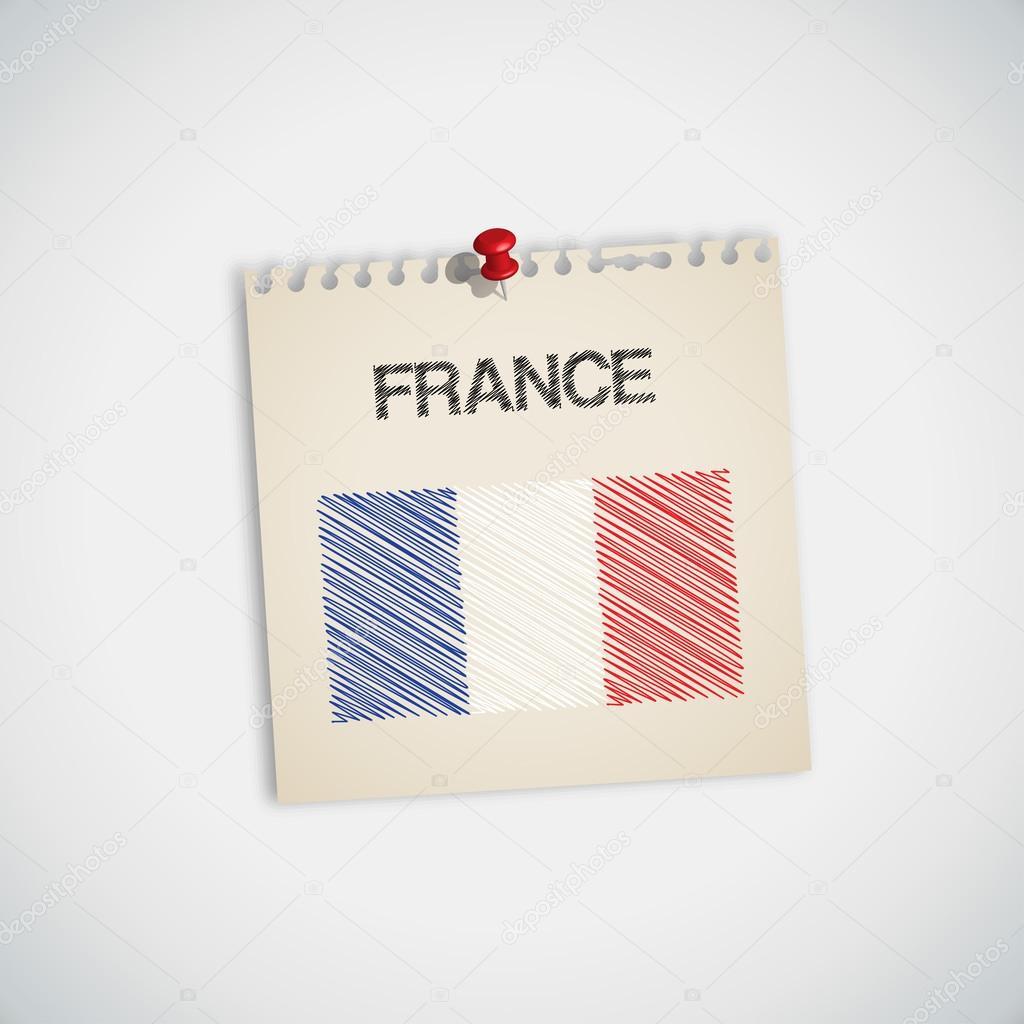 Fransa Bayrağı Boyama Stok Vektör 89studio 30870801