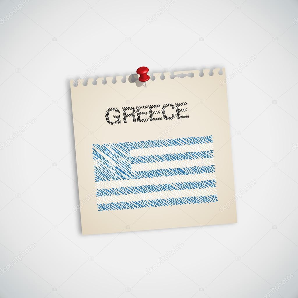 Yunanistan Not Kağıdı Bayrağı Boyama Stok Vektör 89studio 30870901