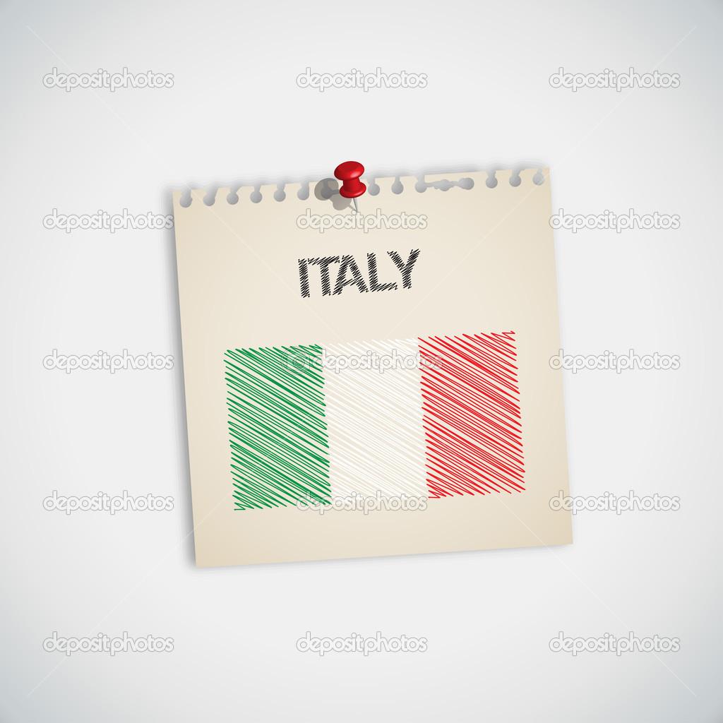 Boya Bayrağı Italyanın Stok Vektör 89studio 30871047