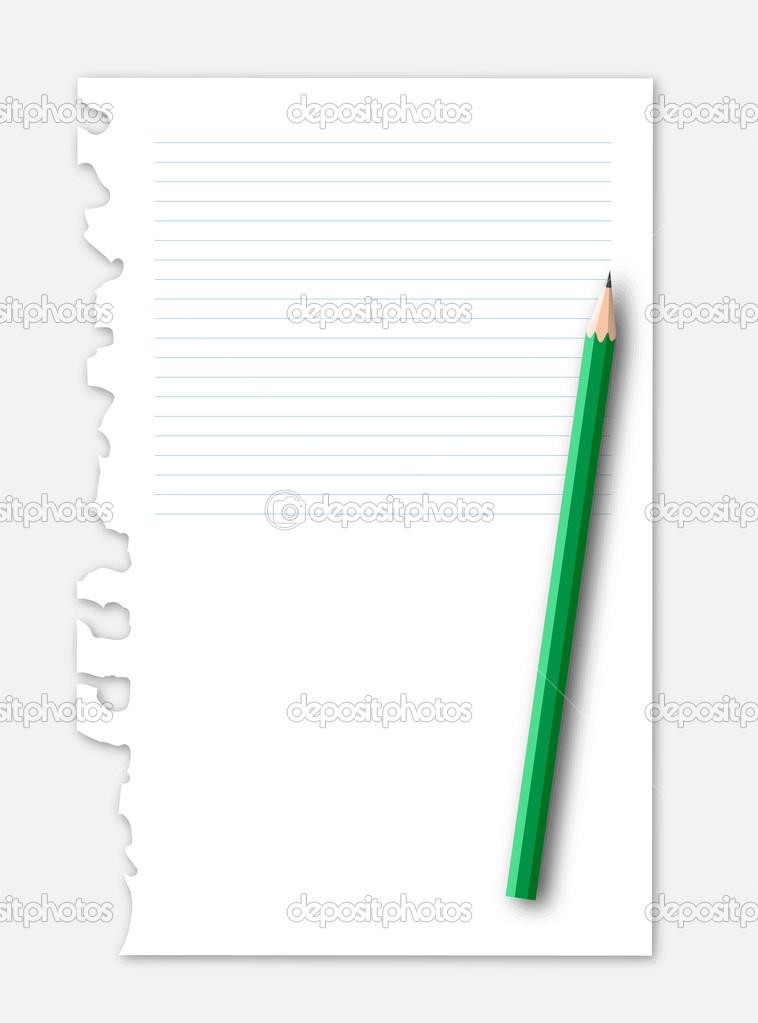 Linie Papier mit Bleistift — Stockvektor © 89studio #30871447