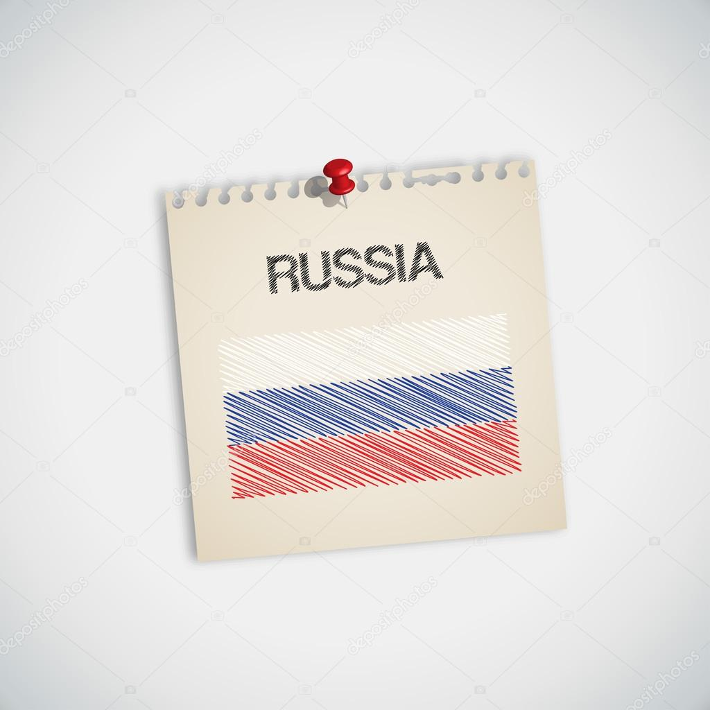 Rusya Bayrağı Boyama Stok Vektör 89studio 30871949