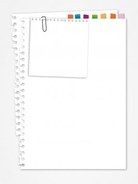 White paper with bookmark