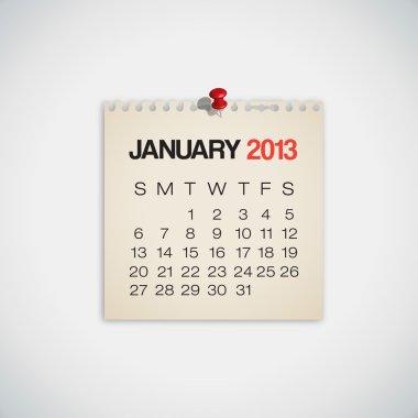 2013 Calendar January