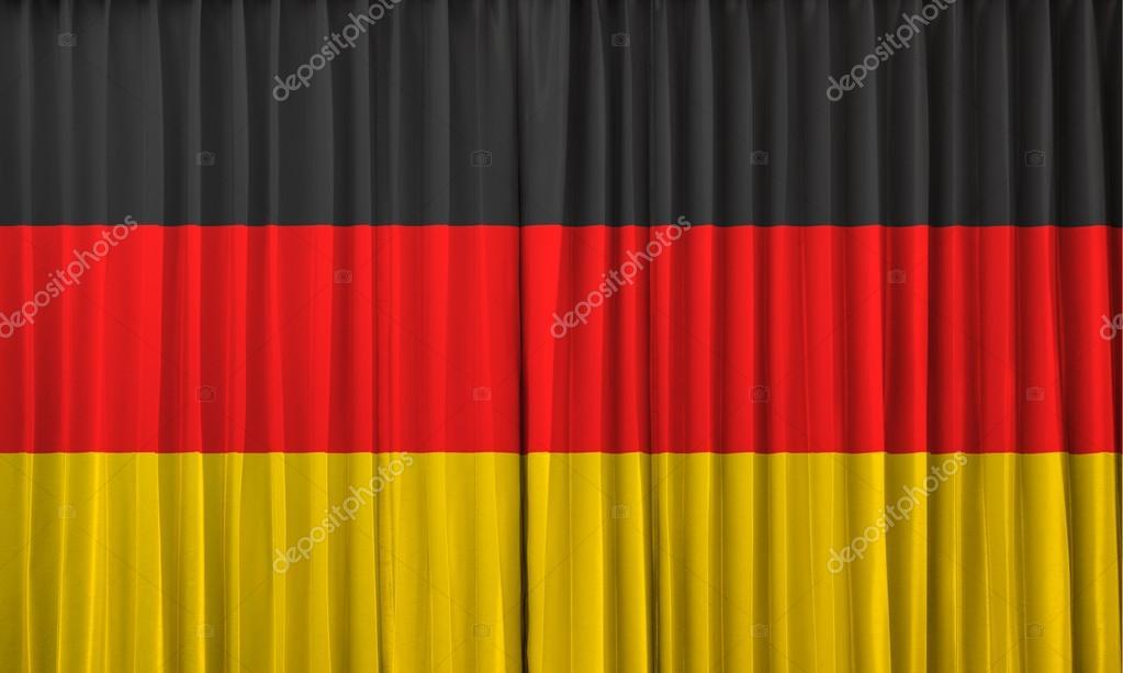 Duitsland vlag op gordijn — Stockfoto © FrameAngel #32866903