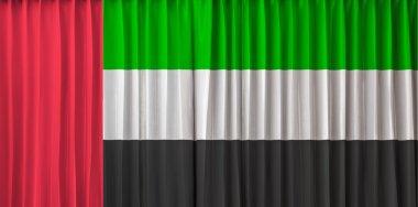 United Arab Emirates flag on curtain