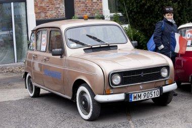 WARSAW - September 28: Old Renault car on Oldtimers meeting.September 28, 2013 in Warsaw, Poland.