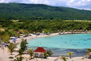Caribbean tourist resort beach