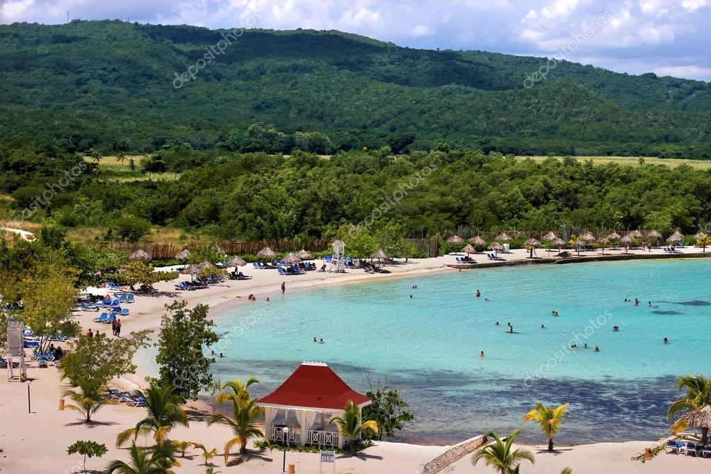 Caribbean tourist resort beach