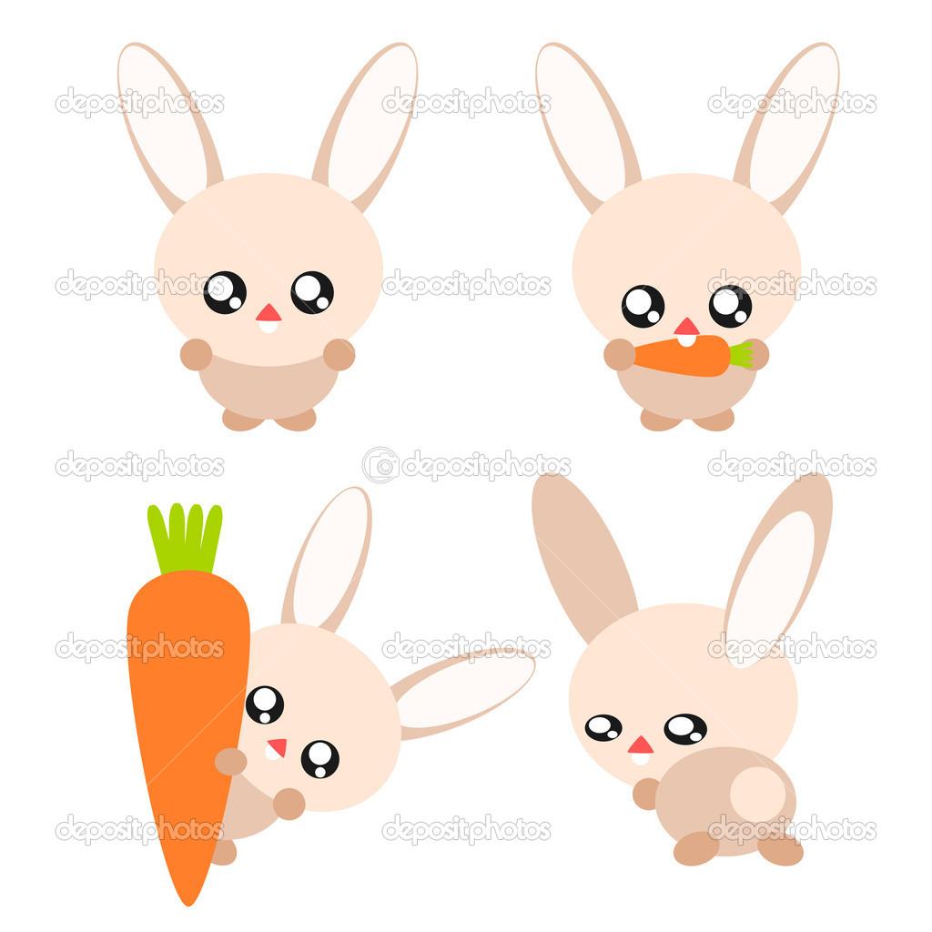 Illustrazione di coniglio cartone animato — vettoriali