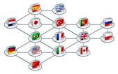 Fotografia concetto di rete mondiale