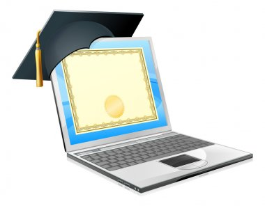 Education laptop concept