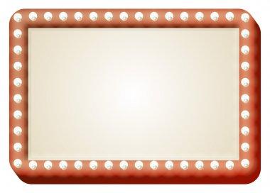 Light bulb red sign