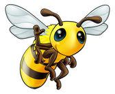 Fotografia felice dondeggiamento ape cartoon