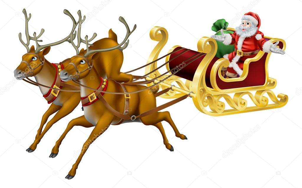 Weihnachts-Schlitten — Stockvektor © Krisdog #13865532