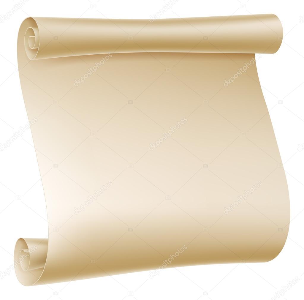 Paper Scroll Illustration