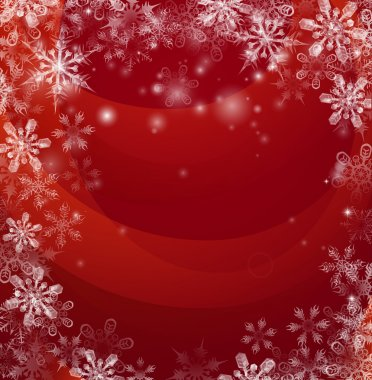 Red Christmas snow background