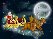 Santa on Delivering Gifts on Christmas Eve