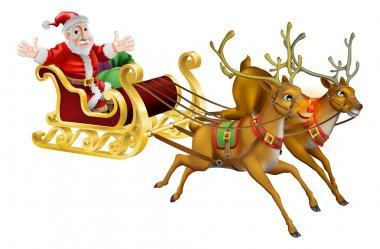 Santa Christmas Sled
