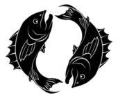 stilisierte Fischillustration