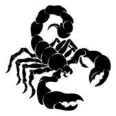 Fotografia illustrazione di scorpione stilizzato