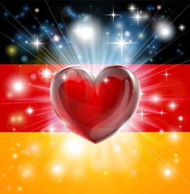 Love Germany flag heart background