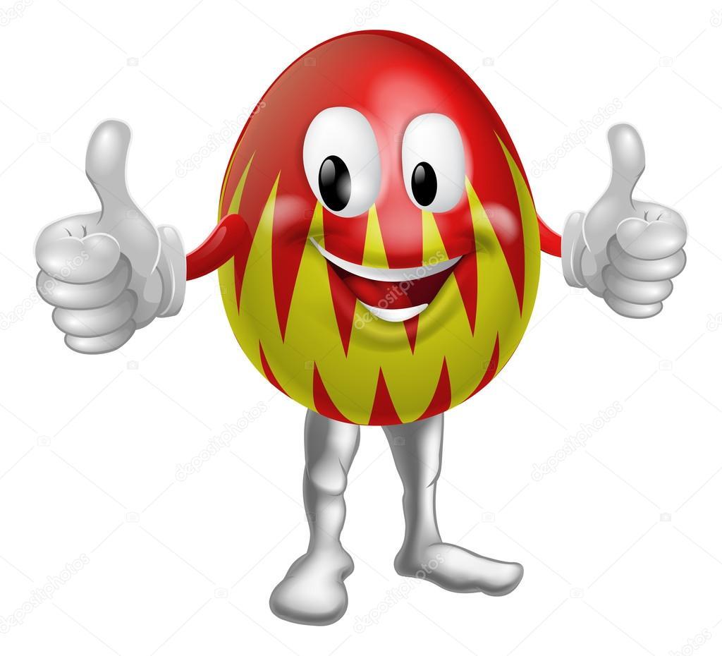 hombre del huevo de Pascua de dibujos animados — Archivo Imágenes ...