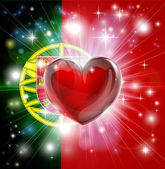 Photo Love Portugal flag heart background