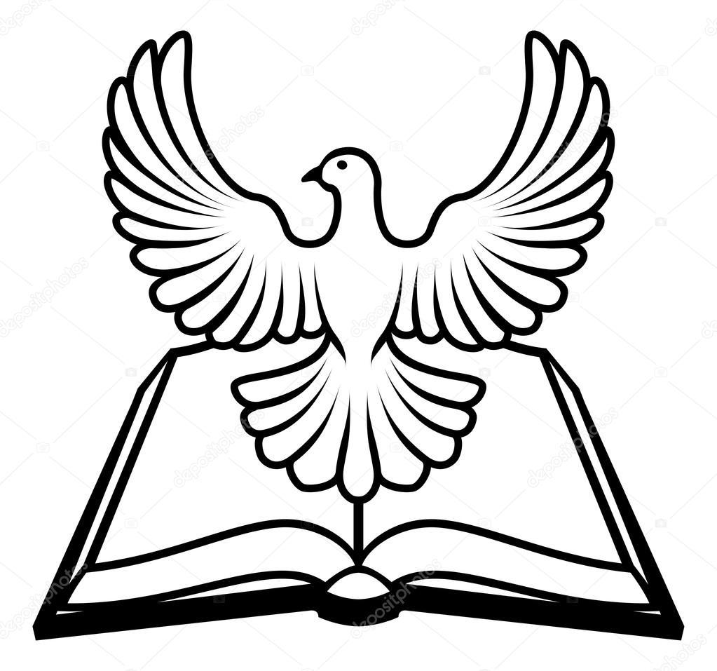 concepto del Espíritu Santo de Biblia — Archivo Imágenes Vectoriales ...