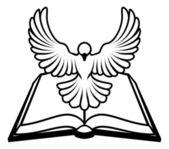 křesťanská bible holubice koncept