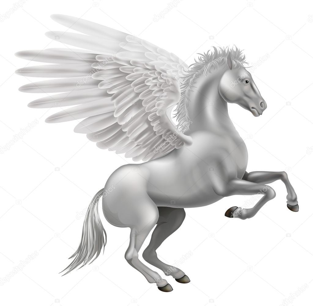 Pegaso Cavallo Alato Disegno.Illustrazione Disegno Di Pegaso Cavallo Alato Cavallo