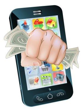 Cash Fist Cell Phone Concept